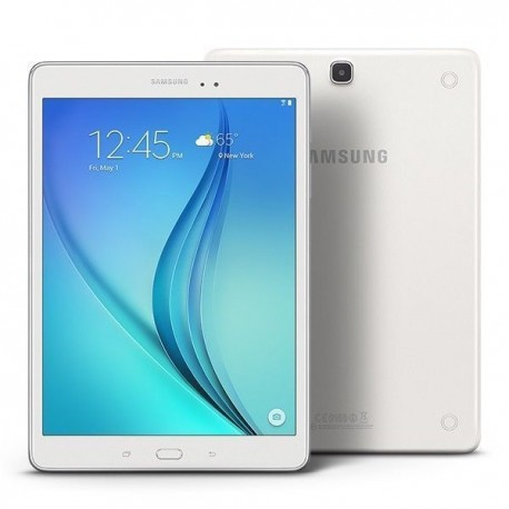 Tablet Samsung reacondicionada blanca. Modelo Galaxy Tab A, grado A de reacondicionamiento